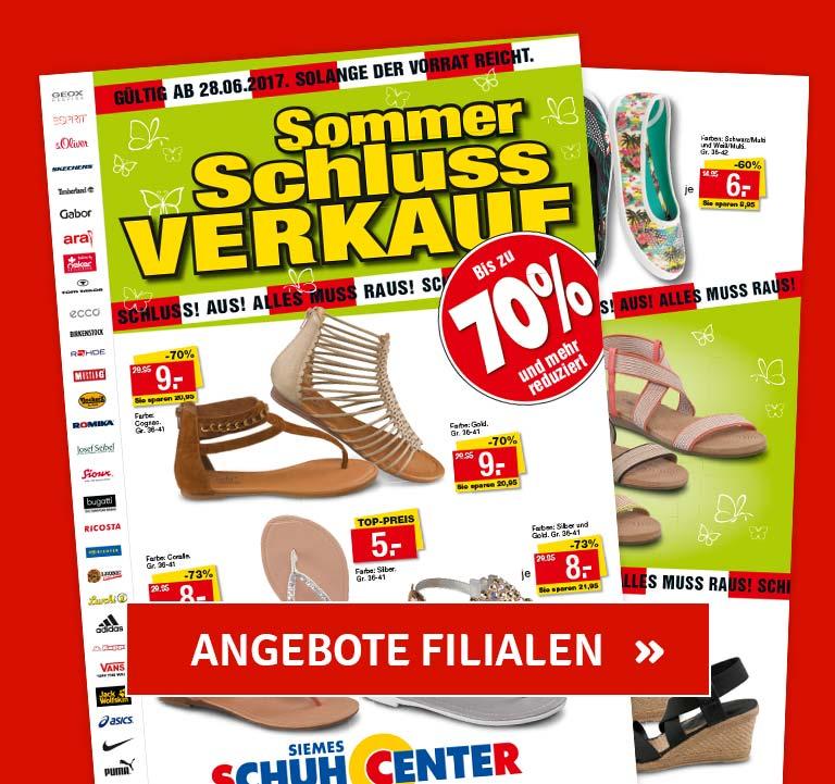 SSV Prospekt - Angebote nur in Siemes Schuhcenter Filialen erhältlich