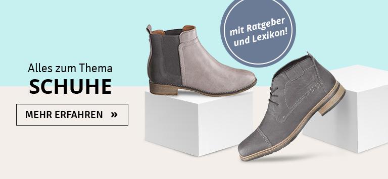 Alles zum Thema Schuhe - Ratgeber. Lexikon, Trends & mehr
