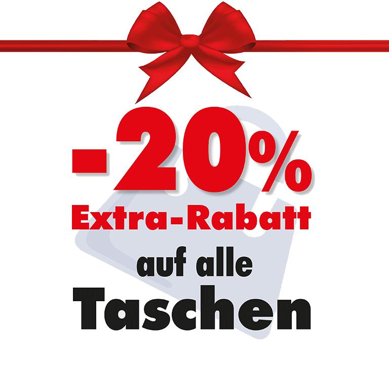 -20% Extra Rabatt auf Taschen