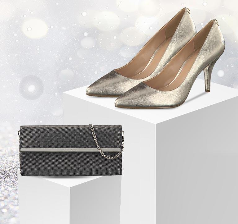 Festliche Schuhe und Taschen